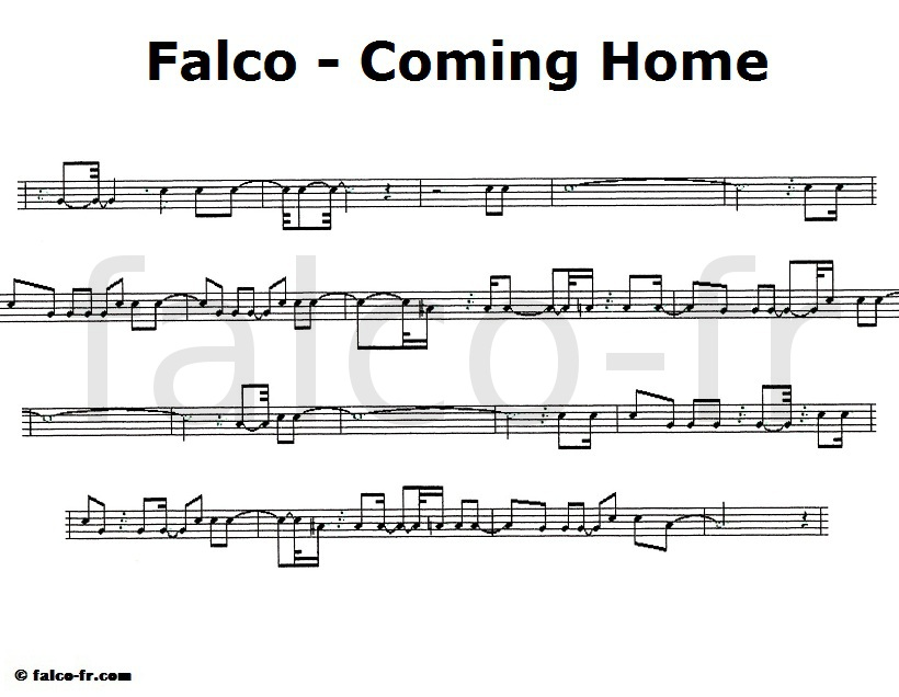 Falco - Coming Home - Partition