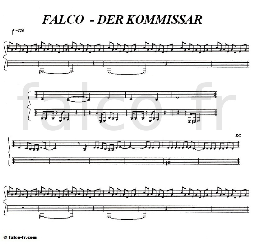 Falco - Der Kommissar - Partition
