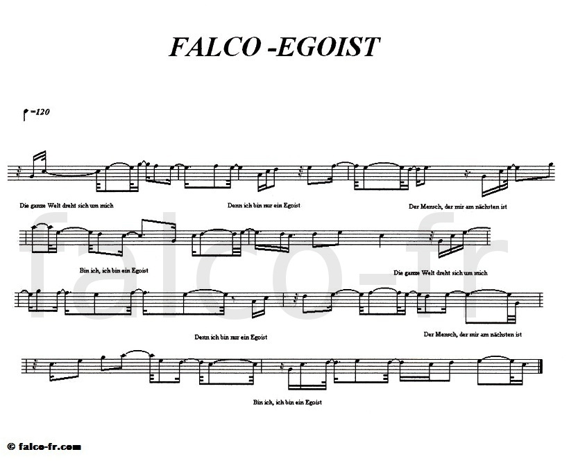 Falco - Egoist - Partition